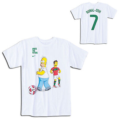 Nike Mens Write The Future Simpsons Christiano Ronaldo T-Shirt Football Jersey