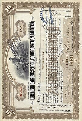 Stock Cert.: 1929, Canada, Punch Cancel, See Remart (S7251)