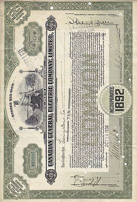 Stock Cert.: 1930, Canada, Punch Cancel, See Remark (S7270)