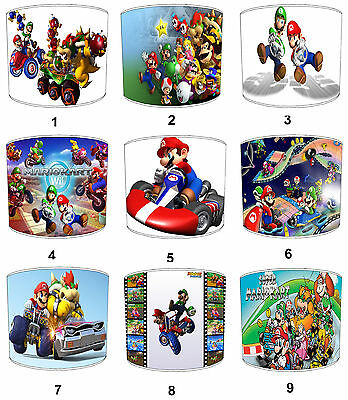 Lampshades Ideal To Match Super Mario Kart Duvets & Super Mario Kart Wall Decals