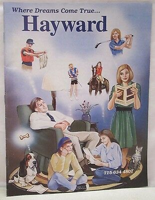 Vintage Hayward Lakes Area Wisconsin Guide Book Calendar of Events Maps Ads etc.