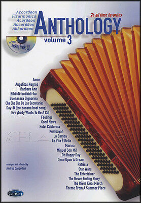 Anthology for Accordion 3 Sheet Music Book/CD 30 All Time Favorites