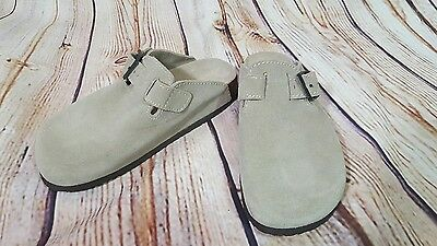 Bjorndal Womens Clogs Harvard Mules Gray Leather Suede upper  Size 7B
