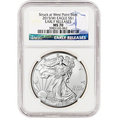 2015-(W) American Silver Eagle - NGC MS70 - Early Releases