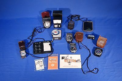 LOT of Weston, Sekonic, Calumet flash meters, etc  #L1193M