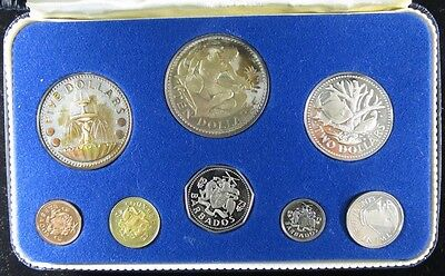 1973 Barbados Proof Set 8 Coin Set - 1.927 Actual Silver Weight