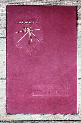 ORIGINAL 1910 RUMELY Annual Catalog Number Fifty-eight, Excellent Condition