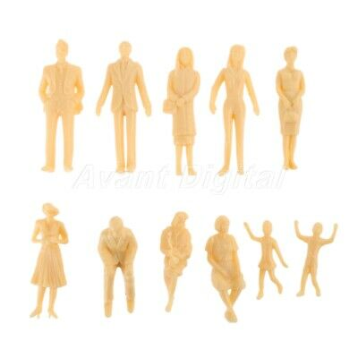 20pcs Skin Colored Painted Multi Figures Model Railway Layout Scenery 1:30 Scale