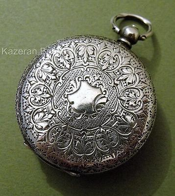 Antique Solid Silver Fob Pocket Watch Spares Or Repair - Dimier Freres & Cie