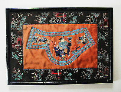 Antique Chinese Silk Embroidery Textile Circa 1876