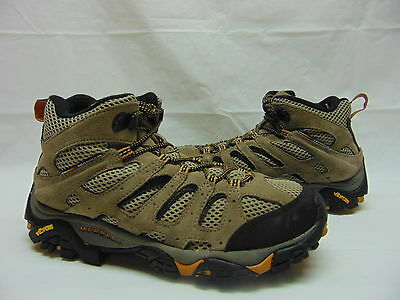 Merrell Men's 9 D Brown Taupe Moab Waterproof Hiking Shoe Ankle Boots