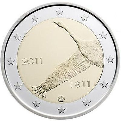 "2011 Finland 2 Euro Uncirculated Coin ""Bank of Finland 200 Years"""