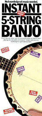 Instant 5-String Banjo 4x12 Beginner Lessons Compact Reference Library Book NEW