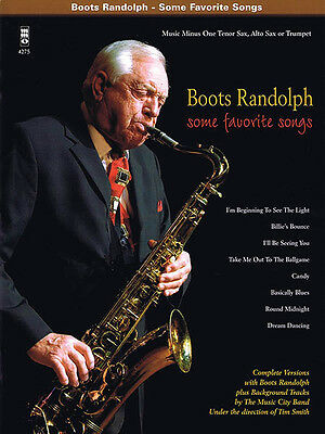 Boots Randolph Some Favorite Songs Saxophone Sheet Music Minus One Book CD NEW