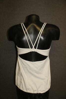 LULULEMON athletica womens 8 tank top shirt YOGA fitness running WHITE bra