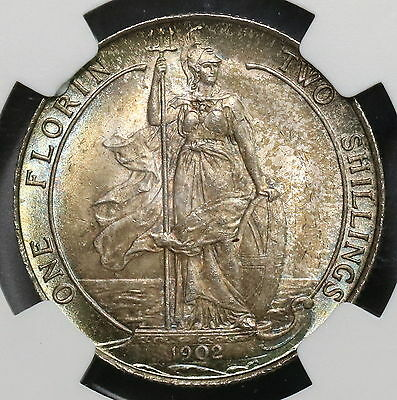 1902 NGC MS 65 Florin Edward VII GREAT BRITAIN Coin Top POP 8/0 (16052301D)