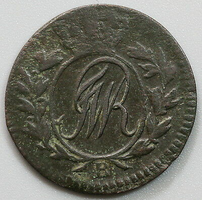 1796-B POLAND South Prussia 1/2 Grossus Coin German Occupation (17041028R)