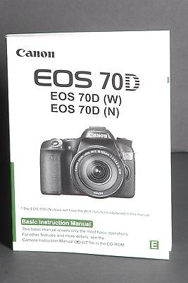 Canon EOS 70D Camera Instruction Book / Manual / User Guide