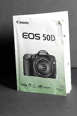 Canon EOS 50D Camera Instruction Book / Manual / User Guide