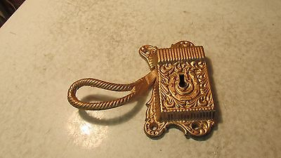 Antique Brass Wood Ice Box Latch