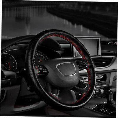 Auto Car Steering Wheel Cover With Needles And Thread Leather Car Covers HT