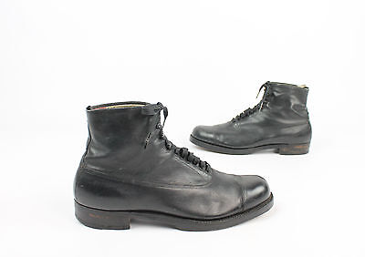Antique MEDICUS German Boots Black Leather Lace Up Mens 8.5 Vintage 1900's