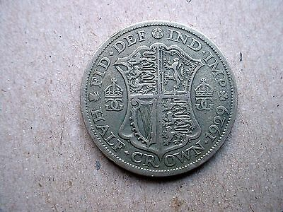 1929 Great Britain Half Crown Silver Coin - Must See
