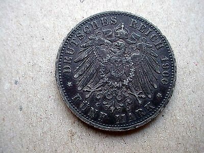 1900-A Germany Funf Mark Silver Coin - Must See