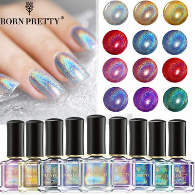 Born Pretty Holographic Holo Glitter Nail Polish Laser Rainbow Hologram Varnish