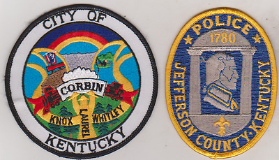 Jefferson County & City of Corbin KY Police patches