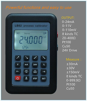 LB02 Resistance Current Voltmeter signal generator source Process calibrator