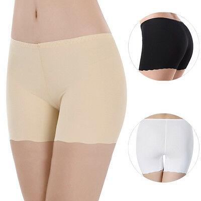 Womens Seamless Anti Emptied Safety Hot Pants Brief Boxer Shorts Lace Underwear