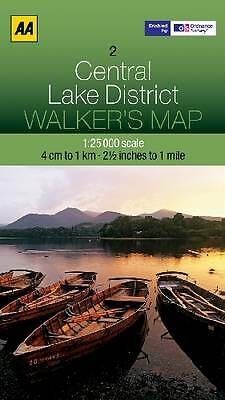 Central Lake District by AA Publishing (Sheet map, folded, 2012)