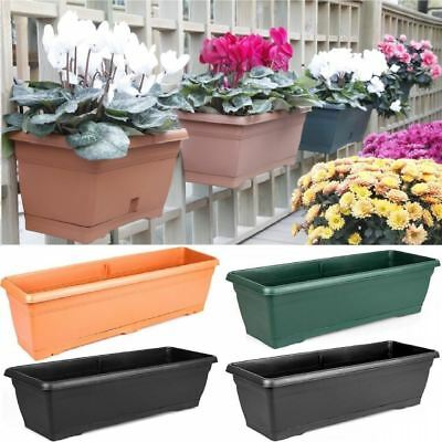 Large 72cm Garden Plastic Trough Balcony Planter Flower Plant Pot Tub Window Box