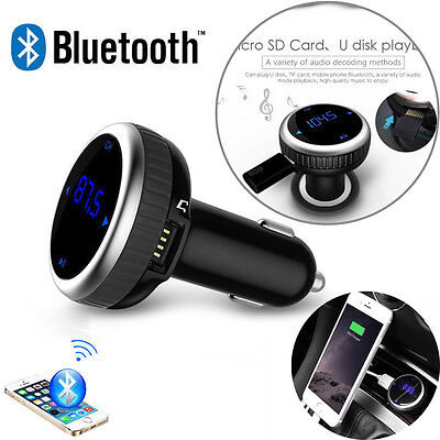LCD Bluetooth Handsfree FM Transmitter Car Kit SD MP3 Music Player USB Charger