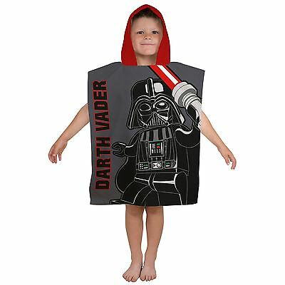Lego Star Wars Villains Hooded Poncho Towel Childrens 100% Cotton New