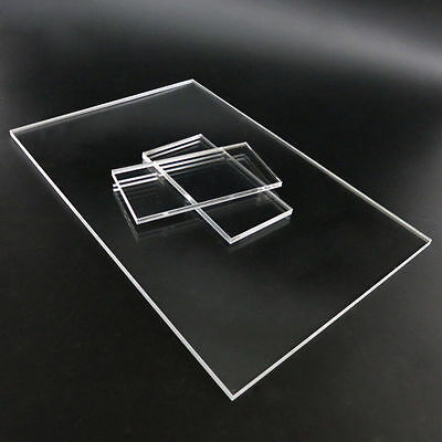 Clear Plastic Sheet Acrylic Plexiglass Plate 60x120mm 200x300mm Thick 2/4/5mm