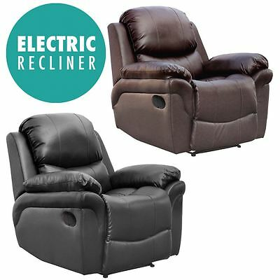 Madison Electric Leather Auto Recliner Armchair Sofa Home Lounge Chair