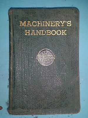 Machinery's Handbook For Machine Shop and Drafting Room 13th Edition 1946 Green