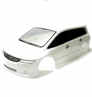 H027W 1/10 Scale Drift On Road Touring Car Body Cover Shell RC White 190mm Wide