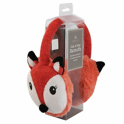 Aroma Home Red Fox heated Knitted Ear Muffs