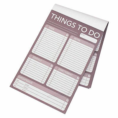 Mauve Daily Planner Things To Do List Note Pad Office Home Desktop Organiser