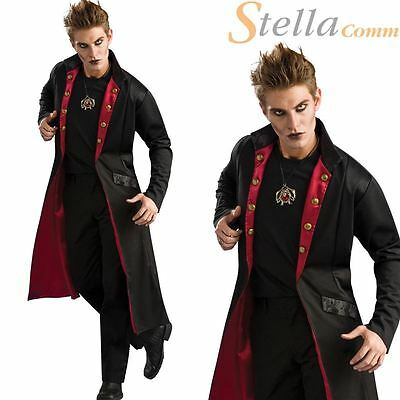 Adult Mens Vampire Coat Dracula Halloween Fancy Dress Costume Accessory
