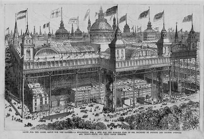 World's Fair Site Suggestion Of 1883 Grandiose Over The Top Architecture