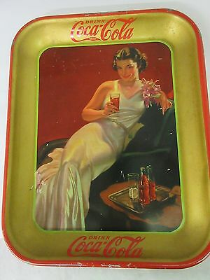 Authentic Coke Coca Cola 1936  Advertising Serving  Tray  869-W