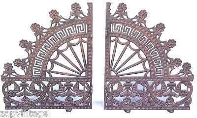 Vtg 1800's Pair of Antique Victorian Cast Iron Ornate Wall Brackets
