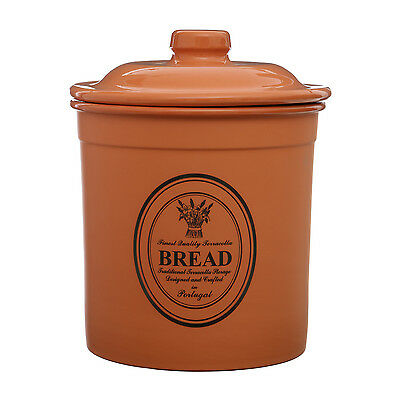 Porto Terracotta Bread Crock Cooking Baking Pastries Kitchen Storage Container