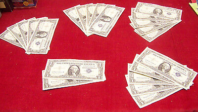 (22) 1957 $1 Silver Certificates - various #'s - XF