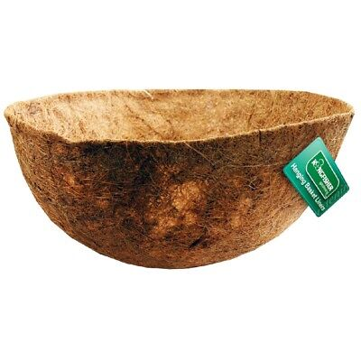 "Kingfisher 14"" Shaped Coco Hanging Basket Liner Moulded Natural Fibre Planter"