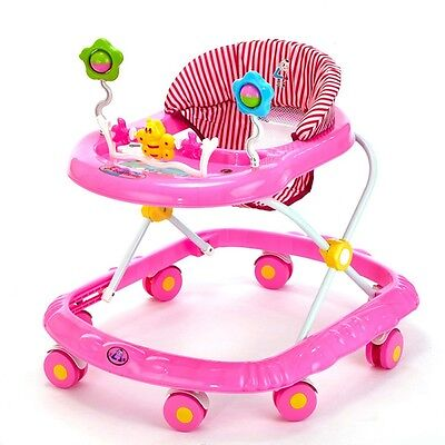 Newly Protable Baby Carriage Infant Walker Cartoon Musical Activity Play Tray